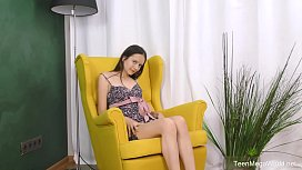 Beauty-Angels.com - Lucy - Passion in yellow armchair