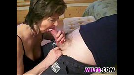 Naughty Granny Gives A Great Blowjob
