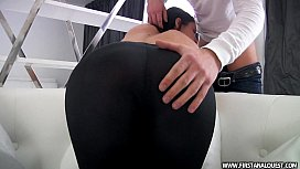 FirstAnalQuestcom - BUTT PORN WITH A SEXY RUSSIAN TEEN IN TIGHT LEGGINGS