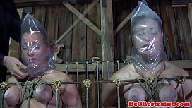 slave duo punished in maledoms dungeon