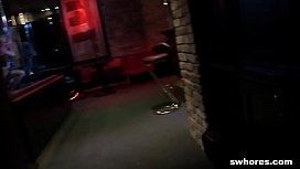 Amateur hot stripper fucks for a lot of cash at the bar POV