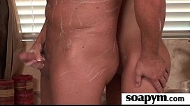 Soapy Massage and Shower Blowjob 4