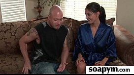Soapy big tits lead to erotic massage 5