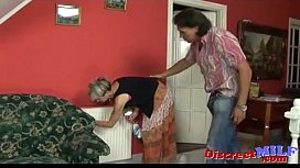 Old horny housekeeper get fucked