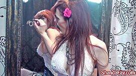 Kinky Milf Shanda Fay Gets off with Big Black Dildo!