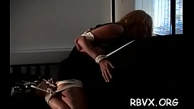 Frisky chick can'_t move as big guy stimulates her tight pussy