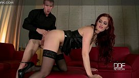Hot redhead Dominatrix gets Hard anal from Danny D