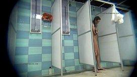 Spy cameras captures real females in shower