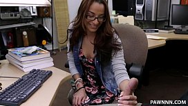 College Student Banged in my pawn shop XXX Pawn