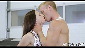 Angel is charming guy with her naughty lovestick riding