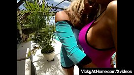 VNA Babes Vicky Vette &amp_ Nikki Benz Tongue Fuck Each Other!