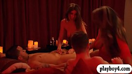 Married couples orgy in Playboy house and enjoyed it image