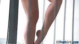 Foot fetish slut cumshot