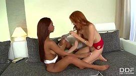 Ultra hot interracial lesbian Sex - Must See!