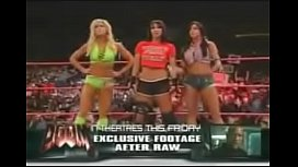 Trish Stratus, Ashley, and Mickie James vs Victoria, Torrie Wilson, and Candice Michelle. Raw 2005.