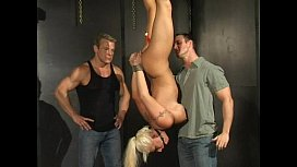 Big tit blonde candy manson bondage fucking and sucking two guys