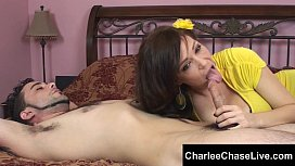 Cum hungry MILF Charlee Chase sucks off a younger guys big cock! aria alexander feet