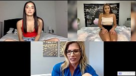 Webcam show with Emily Willis, Cory Chase &amp_ Gia Derza