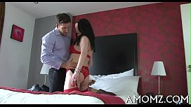 Lustful mature is crazy about cock