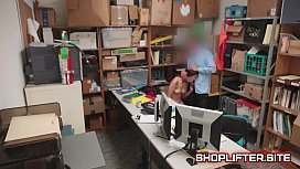 Dumb Shoplifting Hottie Backroom Shop Fucking
