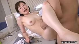 Japanese office lady, Noeru Mitsushima got fucked and creampied, uncensored