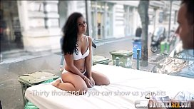 Hot Ria Rodrigez gives an intense blowjob to a stranger