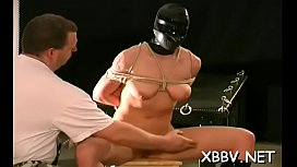 Breasty woman wild tit punishment