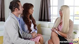 Megan Holly wants to show her foster family that she ready to become a full fledged adult by starting a private threesome fuck session.
