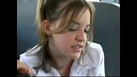 Young Girl on a Bus