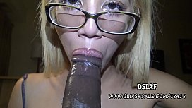 Latina Nerd Giselle D'ambrosio Sloppy Head And Cumshot In Her Mouth- DSLAF