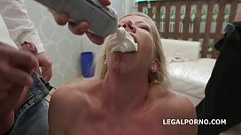 Happy B-day Lara De Santis! anal madness party with squirt cocktail, balls deep anal, DAP, TP &amp_ anal fisting
