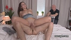 Flat broke dude lets slutty pal to drill his exgf for cash