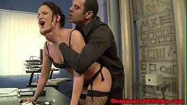 Submissive secretary assfucked in doggystyle