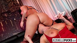 Jezebelle Bind makes sure Trina Rush comes all over her face!