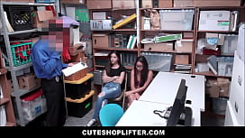 Two Hot Teen Best Friend Shoplifters Arielle Faye And Jasmine Summers Threesome With Officer For Freedom