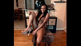 Smoking Hot Ebony Chick Squirts From CAMSNET