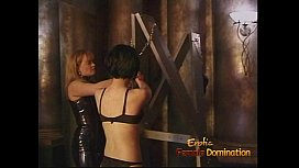 Kinky dominatrix has some dungeon fun with a cute Asian slag
