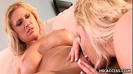 Blonde bitches Devon Lee and Jacey Andrews have lesbian fun