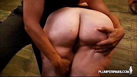 BBW Eliza Allure Loves Tits Slapped and Fucked