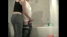 Sis Jerks NOT Bro In Bathroom
