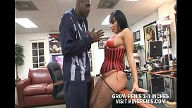Big Ass Tia Cherry On Stocking Suck Cock And Banged