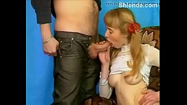 Young russian 18yo schoolgirl teen porn casting with mature daddy
