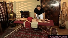 Pretty client pounded by her masseur