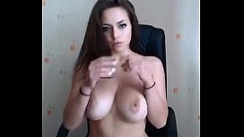 Gorgeous Busty Brunette (who is she?) xxx video