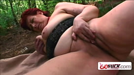 Fat mature lady with funny red hair needs to be penetrated