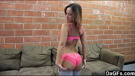 Girlfriend Cumming On Her Mom'_s Couch