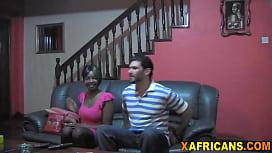 Beautiful ebony gi iend banged in POV by her white boyfriend
