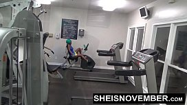 Young Working Out In Public Gym Face Fucked By Stranger & Hardcore Sex