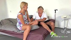 Mature nanny pleasures teen