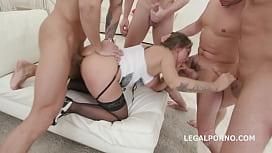 Big Butt Prolapser Betty Foxxx 5on1 hardcore DAP   Squirting & ferocious Orgasms